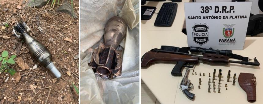 S.A.P.: Preso com armas, munições e bomba de uso exclusivo do exército