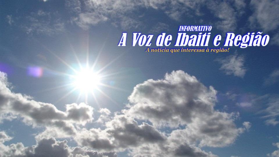 IBAITI E REGIÃO: Tempo Sábado (15/05)