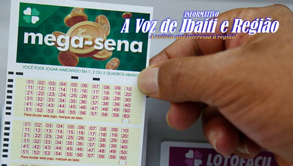 SUA SORTE: Mega-Sena poderá pagar premio de R$ 40 mi, no sábado dia 30/10